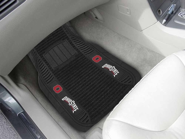 Ohio State 2 Piece Heavy Duty DELUXE Vinyl Car Mats