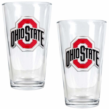 Ohio State 2 Piece Pint Glass Set