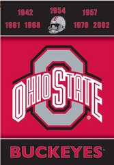 Ohio State 2 Sided Championship Banner (P)