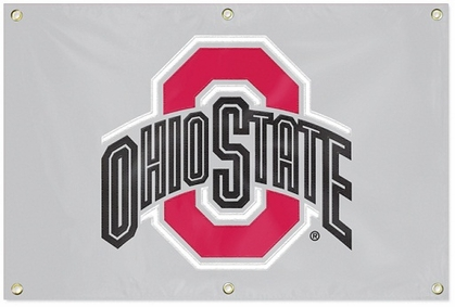 Ohio State 2 x 3 Horizontal Applique Fan Banner