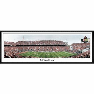 Ohio State 20 Yard Line Framed Panoramic Print
