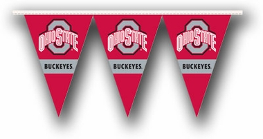 Ohio State 25 Foot String of Party Pennants (P)
