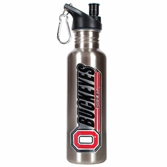 Ohio State 26oz Stainless Steel Water Bottle (Silver)