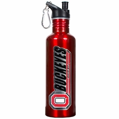 Ohio State 26oz Stainless Steel Water Bottle (Team Color)