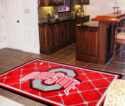 Ohio State 4 Foot x 6 Foot Rug