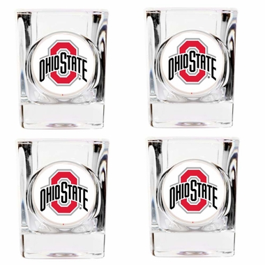 Ohio State 4 Piece Shot Glass Set