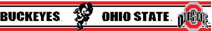 Ohio State 5.5 Inch (Height) Wallpaper Border