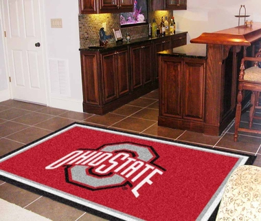 Ohio State 5 Foot x 8 Foot Rug