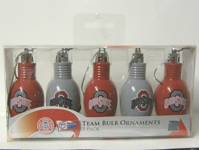 Ohio State 5 Pack Bulb Ornaments