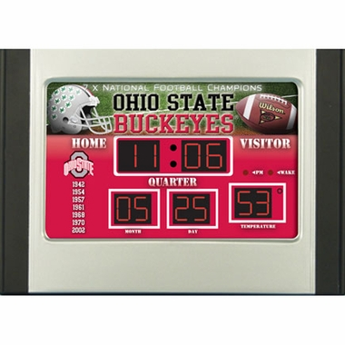 Ohio State Alarm Clock Desk Scoreboard
