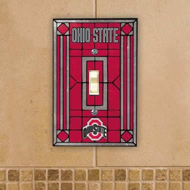 Ohio State Art Glass Lightswitch Cover