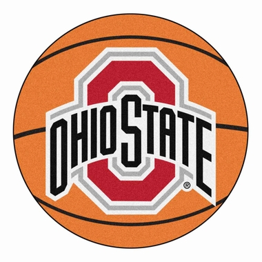 Ohio State Basketball Shaped Rug