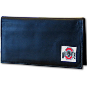Ohio State Black Leather Checkbook Cover (F)