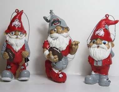 Ohio State Buckeyes 2012 Gnome 3 Pack Ornament Set