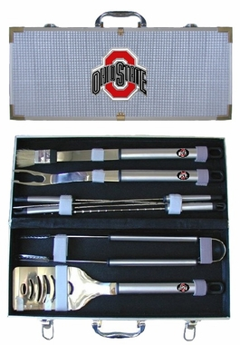Ohio State Buckeyes 8pc. BBQ Set w/Case