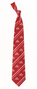 Ohio State Cambridge Woven Silk Necktie