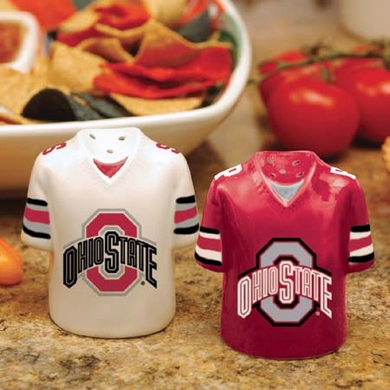 Ohio State Ceramic Jersey Salt and Pepper Shakers