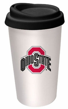 Ohio State Ceramic Travel Cup