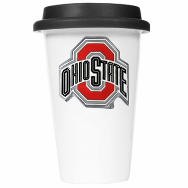 Ohio State Ceramic Travel Cup (Black Lid)
