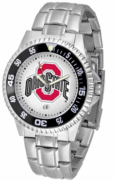 Ohio State Competitor Men's Steel Band Watch