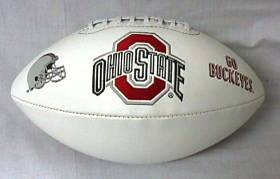 Ohio State Embroidered Foto Football