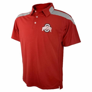 Ohio State Embroidered Logo Polyester Polo Shirt