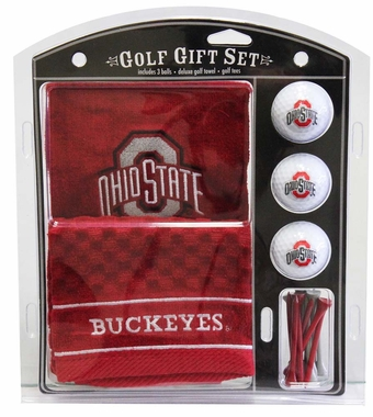 Ohio State Embroidered Towel Golf Gift Set