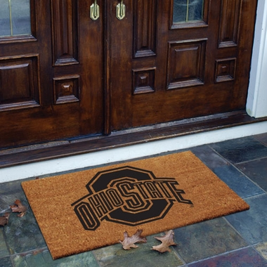 Ohio State Flocked Coir Doormat
