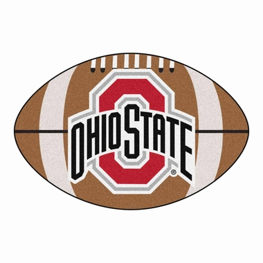 Ohio State Football Shaped Rug