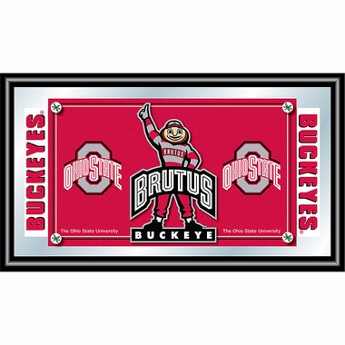 Ohio State Framed Logo Mascot Bar Mirror