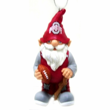 Ohio State Gnome Christmas Ornament