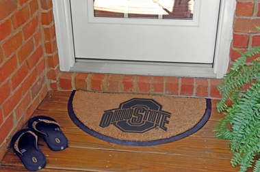 Ohio State Half Moon Door Mat
