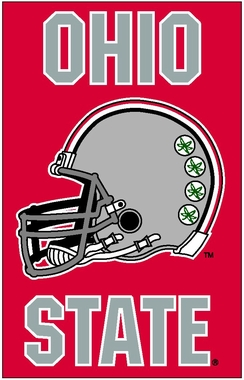 Ohio State Helmet Applique Banner Flag