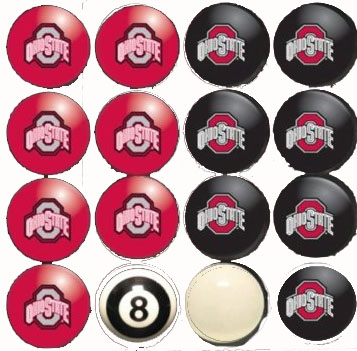 Ohio State Home and Away Complete Billiard Ball Set