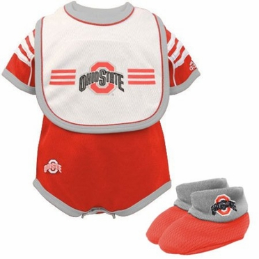 Ohio State Infant 3 Piece Creeper Set