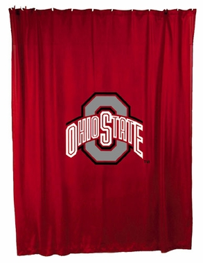 Ohio State Jersey Material Shower Curtain