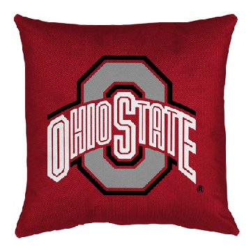 Ohio State Jersey Material Toss Pillow