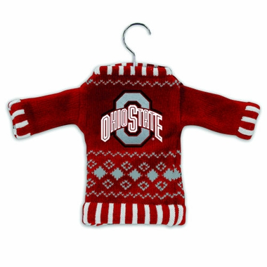 Ohio State Knit Sweater Ornament (Set of 3)
