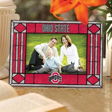 Ohio State Landscape Art Glass Picture Frame