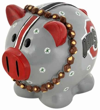 Ohio State Buckeyes Piggy Bank - Thematic Large