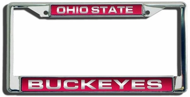 Ohio State Laser Etched Chrome Lisense Plate Frame