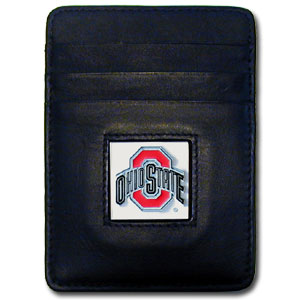 Ohio State Leather Money Clip (F)