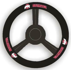 Ohio State Buckeyes Leather Steering Wheel Cover