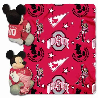 Ohio State Mickey Mouse Pillow / Throw Combo