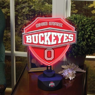 Ohio State Neon Shield Table Lamp