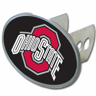 Ohio State Oval Metal Hitch Cover