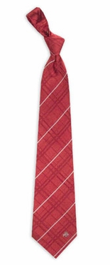 Ohio State Oxford Stripe Woven Silk Necktie