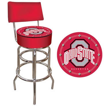 Ohio State Padded Bar Stool with Back