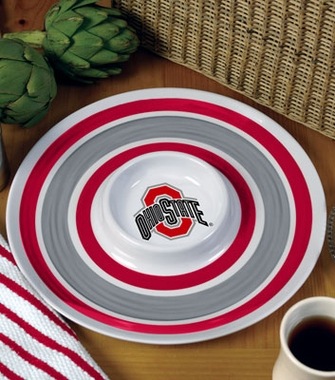 Ohio State Plastic Chip and Dip Plate