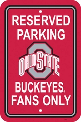 Ohio State Plastic Parking Sign (P)